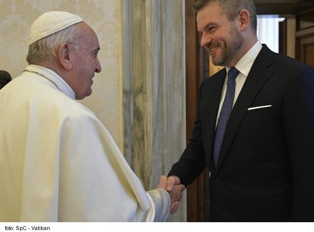 Pápež František prijal predsedu vlády Slovenskej republiky
