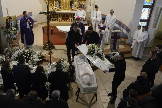 Príhovor biskupa Forgáča počas pohrebu Martiny Kušnírovej