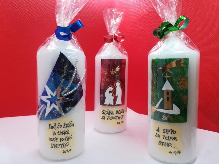 NOVÉ vianočné sviečky v e-shope Rádia LUMEN