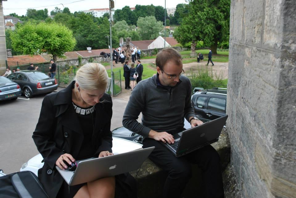 V pracovnom nasadení v rámci práce pre tlačovú agentúru vo Francúzsku