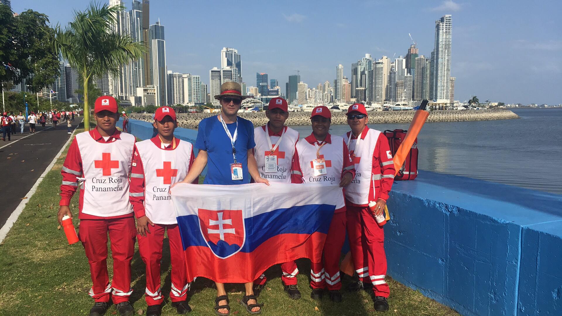 Skupina záchranárov na Svetových dňoch mládeže