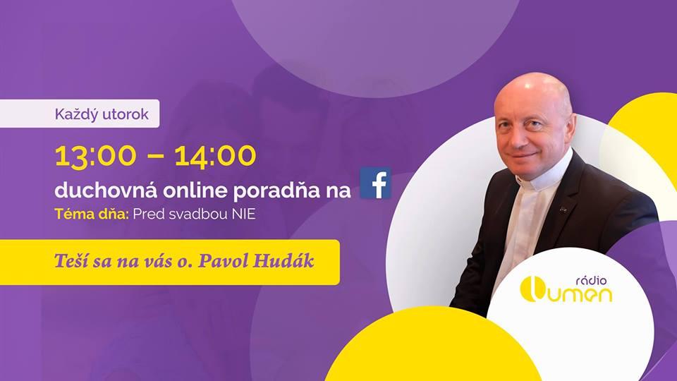 V utorok radí online o. Pavol Hudák
