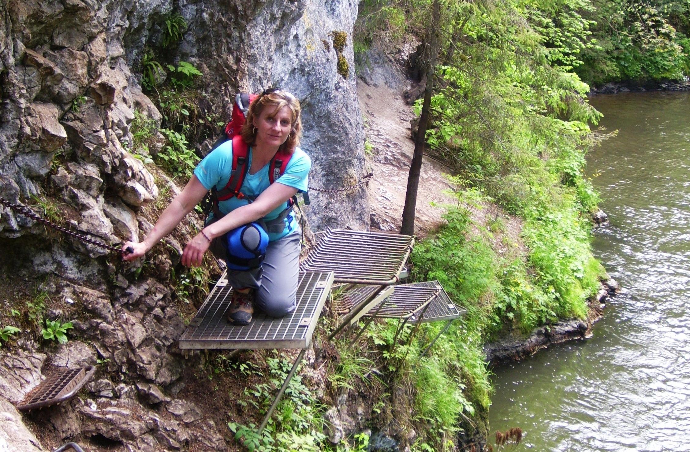 Monika Strečková na turistike v Slovenskom raji