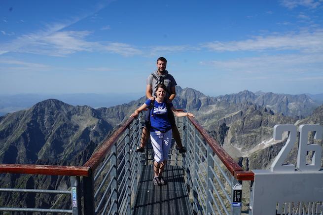 Jakub s manželkou Zuzanou na Lomnickom štíte