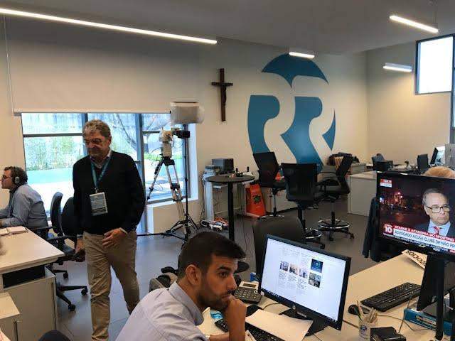 Redakcia portugalského rádia Renascença v Lisabone, ktorí boli tohtoročnými hostiteľmi stretnutia CERC